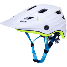 Kali Maya 2.0 Casco, matte white/neon yellow